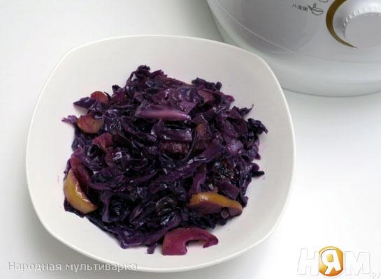 Рецепт Кисло-сладкая красная капуста в мультиварке