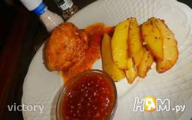 Курица в рукаве с картофелем по-деревенски