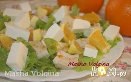 Салат с сыром фета и апельсином