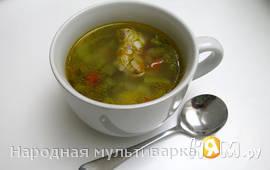 Суп из свиных ребрышек с зеленой фасолью