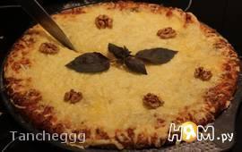 Пицца Quattro Formaggi с грецким орехом