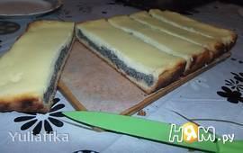 Вкусный пирог с маковой начинкой и сметанным суфле