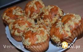 Творожные кексы с ореховой посыпкой