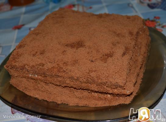 Торт из шоколадного манника