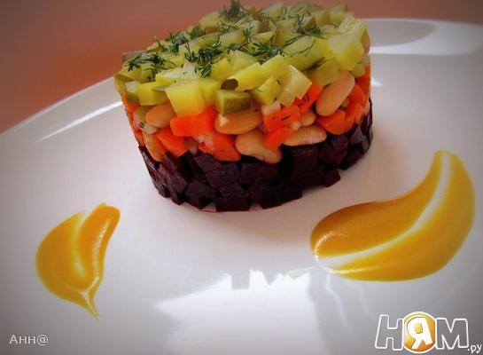 Рецепт Салат винегрет под одноимённым соусом