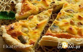 Пирог с горбушей и плавленным сыром