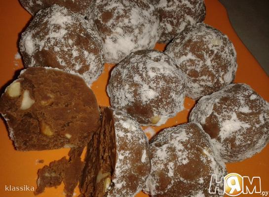 Рецепт Домашние конфеты с орехами