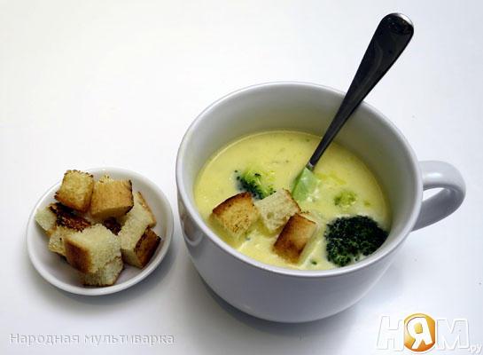 Сырный суп с брокколи в мультиварке