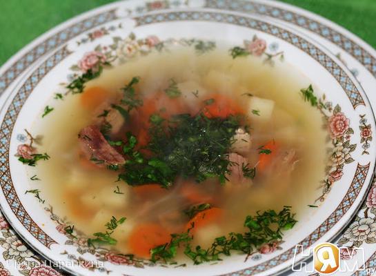 Картофельный суп с горчицей и хреном