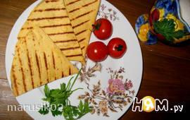 Тортилья с печеными баклажанами и грецкими орехами