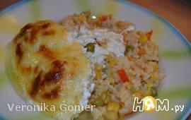 Куриные котлеты с рисом по-католински