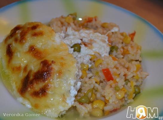 Рецепт Куриные котлеты с рисом по-католински