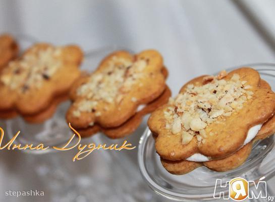 Медовое печенье с орешками