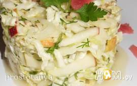 Салат с капустой и имбирём