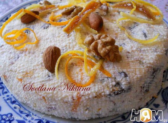 Рецепт Ванильная Пасха с орехами