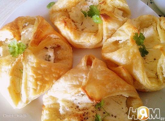 Конверты с козьим сыром