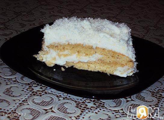 "Торт ""Белые облака"""