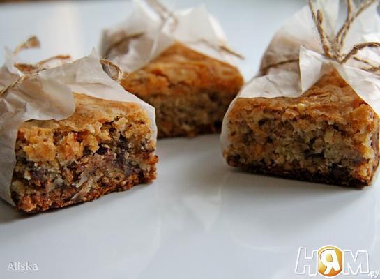 Рецепт Блонди с грецкими орехами и шоколадом