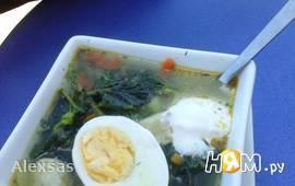 Весенний суп из крапивы