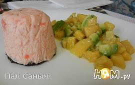 Суфле из семги с цитрусовым салатом