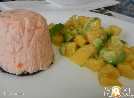 Рецепт Суфле из семги с цитрусовым салатом