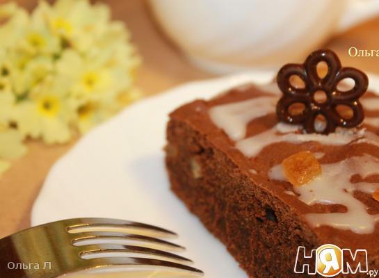 Шоколадно - имбирный пирог