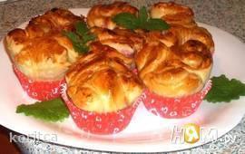 Сдобные булочки с ягодами а-ля капкейки