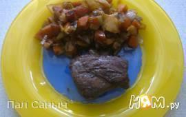 Пряная оленина с овощами
