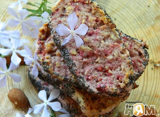 Рецепт Малиновое печенье с маком