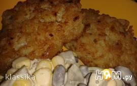 Котлеты из курицы с рисом