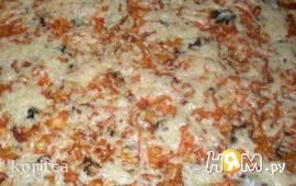 Быстрая пицца из наливного теста