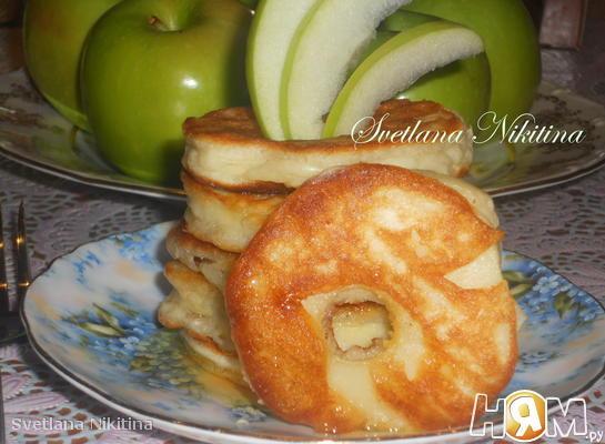 Яблочные круги  с медом