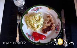 Филе индейки под сметанно-чесночным соусом