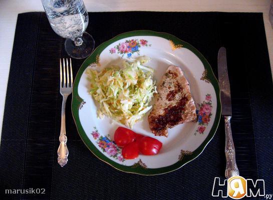 Рецепт Филе индейки под сметанно-чесночным соусом