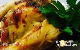 Цыпленок, фаршированный печенью с клюквой