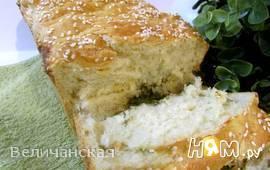 Домашний хлеб с сыром и укропом
