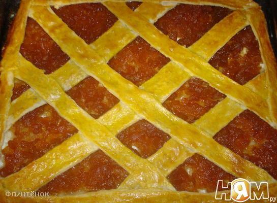 Рецепт Пирог с яблочным повидлом