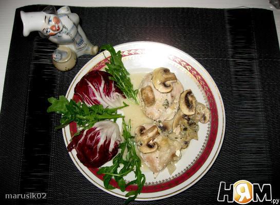Запеканка из курицы с голубым сыром