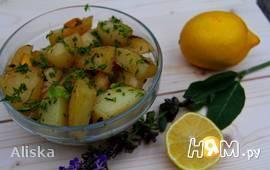 Картофель, запеченный с шалфеем и лимоном