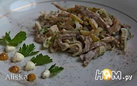 """Салат из курицы с языком """"Онежский"""""""
