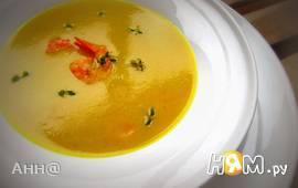 Картофельный крем-суп с креветками и имбирём