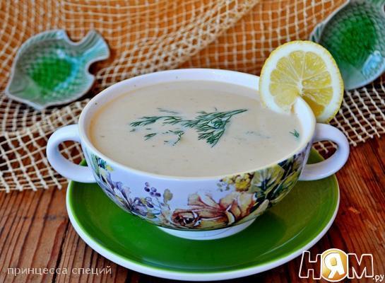 Рецепт Суп-пюре с красной рыбой, картофелем и укропом