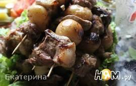 Шашлычки из свинины и молодого картофеля