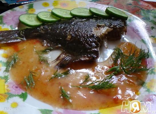 Рецепт Камбала с соусом чили