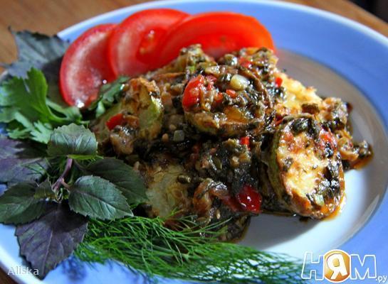 Рецепт Кабачки по-Гречески.