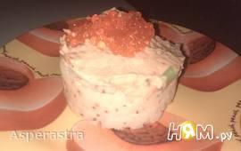 Праздничное картофельное пюре с красной икрой