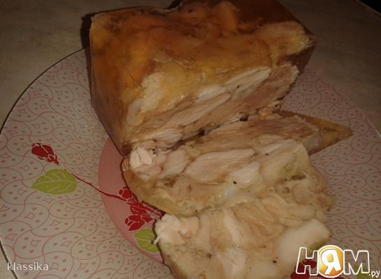 Куриный рулет в желе