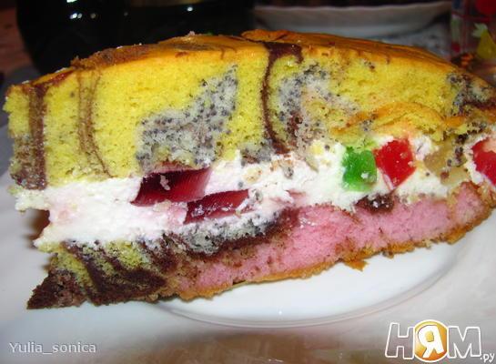 Пляцок/Пирог с начинкой из желе