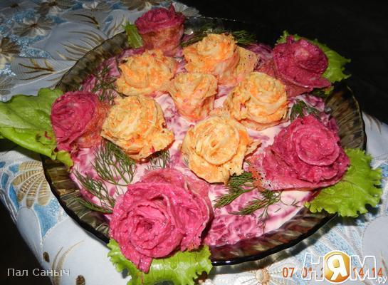 Розы. Сельдь. И шуба