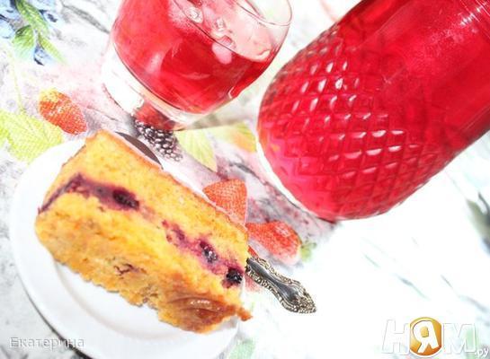 Рецепт Вишневый компот с мятой и специями